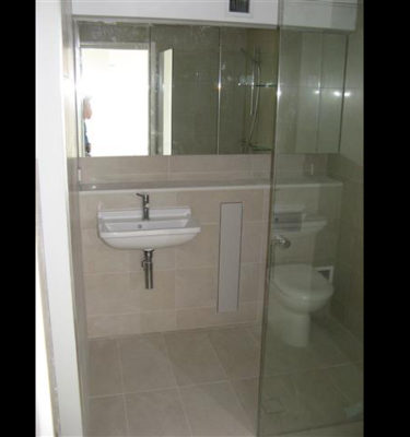 Unique features, Concealed Cupboard Toilet Roll Holder, Wall Mounted Basin, Mirrored Shaving Cabinet
